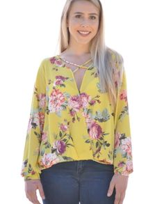 Make a statment with this Yellow Floral top!