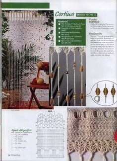 TRICO y CROCHET-madona-mía: Cortinas en crochet con padrón