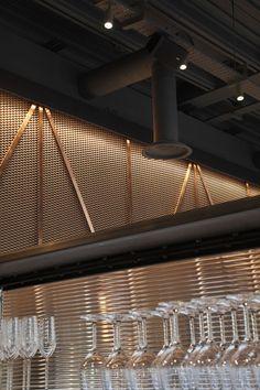 Image result for bar metal modern bulkhead