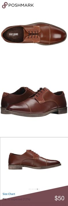 """Stacy Adams Men's Caldwell Oxford Leather Shoes Cap Toe Oxford Featured A Hand Burnished Leather Upper Fully Cushioned Insole With Memory Foam For Added Comfort  Leather Imported Synthetic sole Heel measures approximately 1"""" Platform measures approximately 0.5"""" Made in USA or Imported Aldo Shoes Oxfords & Derbys"""