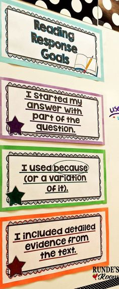 LOVE these scaffolded reading response goals - my students'. LOVE these scaffolded reading response goals – my students'… You are in the r… LOVE thes Reading Resources, Reading Strategies, Reading Skills, Reading Comprehension, Guided Reading, Comprehension Strategies, Close Reading, Reading Homework, Reading Groups