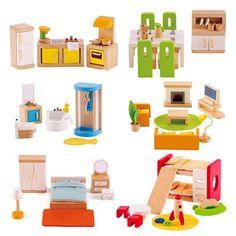 Hape doll house furniture