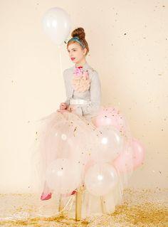Qué te parece esta falda de globos??