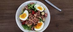 Tuna and Egg Salad. Very quick and easy lunch recipe.