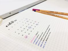 Bullet journal monthly spread – ideas and inspiration