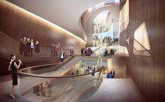 Imagen interior del proyecto de UNStudio para el nuevo 'Theatre on the Parade'. Imagen cortesía de UNStudio. Señala encima de la imagen para verla más grande.