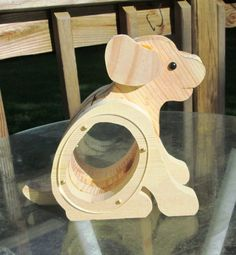 Craft Supplies, Ready to Finish, Wood,  Sweet Playful,  Puppy Dog,  Coin Bank Talent, Creative Gift,, Handmade Wooden on Etsy, $20.00