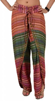 Skirts N Scarves Women's New Cotton Emboridered Aladdin Dhoti Pant/Harem Pant at Amazon Women's Clothing store:
