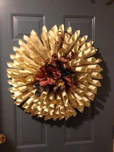 DIY Paper Music Wreath