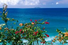 View of Desecheo Island from Rincon, Puerto Rico