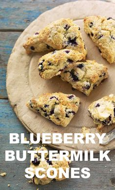 Blueberry-Buttermilk Scones | Martha Stewart Living - Scattered with fresh blueberries, these scones will bake up light and airy if you handle the dough as little as possible.