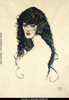 Portrait of a Woman with Black Hair by Egon Schiele. Painting analysis, large resolution images, user comments, slideshow and much more.