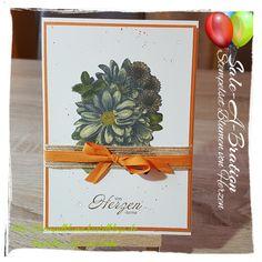 StampinUp, SAB, Blumen von Herzen und ausgemalt mit Stampin'Blends....