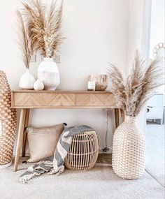 Decor Home Living Room, Boho Living Room, Home And Living, Living Room Designs, Beige Living Rooms, Nature Home Decor, Bohemian Bedroom Decor, Small Living Rooms, Boho Decor