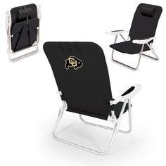 Monaco Beach Chair - Black (University of Colorado - Buffaloes) Digital Print