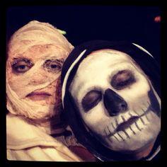 Mummy makeup, skeleton makeup