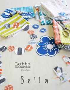 Lotta Jansdotter's Bella collection. in stores Aug 2012. Fabulous. Links to her blog, where she describes her design process.