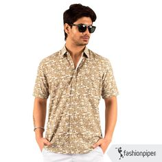 #Prints for a cool #summer party!  Link to buy: http://www.fashionpiper.com/men/western-wear/casual-shirt/print-alert-shirt-1221.html