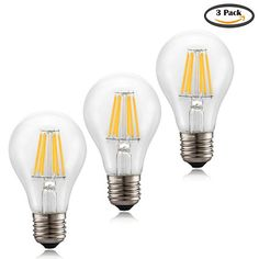 Voness A19 6w LED Filament Light Bulb [Classic Edison 60w Incandescent] Replacement [E26 Medium Base] [Non-dimmable Clear Soft White] [2700k]-3pack VONESS http://www.amazon.com/dp/B017Q5E5VG/ref=cm_sw_r_pi_dp_Fd1Gwb0GV75Z9