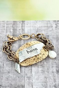 Show love for your home state with this toggle bracelet.