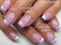 Pretty nail art but I would do this on shorter nails