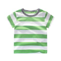 Children's T-Shirt Boys Short Sleeve Baby Clothing Little Boy Summer Shirt Cotton Tees Striped Clothes 1-10Y #Affiliate