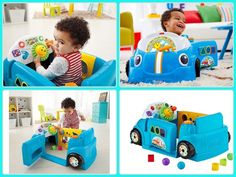 Fisher Price Laugh Learn Smart Stages Crawl Around Car Blue Baby Toddler Gifts #car #baby #toys