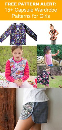 FREE PATTERN ALERT: 15+ Capsule Wardrobe Patterns for Girls