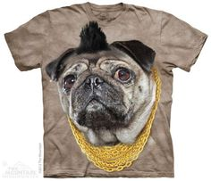 The Mountain Pug T-shirt | Mr P, New 2014 Adult T-shirts from The Mountain, 103755