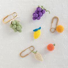 crochet motif brooches