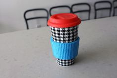 Yoga mat coffee koozie | 100 Ways to Repurpose Everything