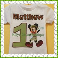 Mickey Safari Birthday T-Shirt/ by MillysDreamBoutique on Etsy