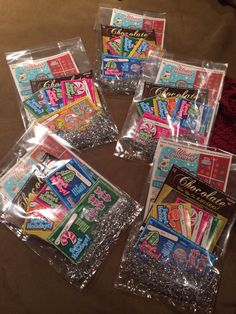 Lotto Ticket Christmas Gift Bags made by yours truly!! Winning!!