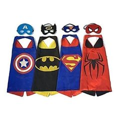 #Christmas Where can you buy Superhero Capes and Masks 4 set Children Party Dress up Costumes for Christmas Gifts Idea Shopping . Because the Christmas  time closes in, it's occasion to take into account just what gift you will be providing a special someone  this coming year. Supplying a present with a passionate impression may...