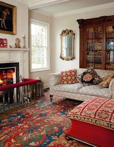 Style Cottage, English Cottage Style, English Country Decor, Red Cottage, English House, English Style, Country Style, Living Room Decor Colors, Living Room Paint