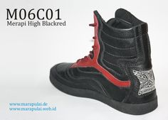 Marapulai shoes Merapi high black red handmade sneakers by MarapulaiClothing, €110.00