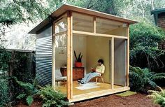 Prefab shed kits... lots of options, low to high end.