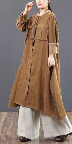 Women Loose Corduroy A Line Shirt Dresses For Spring 6157 – Linen Dresses For Women Muslim Fashion, Modest Fashion, Hijab Fashion, Fashion Dresses, Linen Dresses, Casual Dresses, Casual Outfits, Look Fashion, Girl Fashion