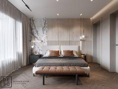 "DE&DE/Villa in ""Honcanova"" residential complex on Behance Master Bedroom Interior, Modern Master Bedroom, Home Room Design, Modern Bedroom Design, Master Bedroom Design, Contemporary Bedroom, Home Bedroom, Casa Milano, Casa Clean"