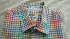 Peter Millar Short Sleeve Linen multicolor Plaids Casual Shirt medium M  NWT NEW #PeterMillar #ButtonFront