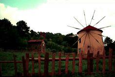 Windmill in Abant, Bolu, Turkey.