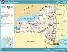 National Atlas: Print Your State! Great for cards, kids' flashcards, collage & more!  New York