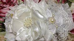 Tiara de bautizo  blanco/perla paso a paso VIDEO No.428