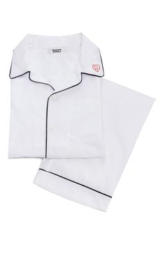 Men's pajama set in white with heart monogram - Sleepy Jones Latest Fashion Design, Women's Fashion, Sleepy Jones, Valentine Day Gifts, Valentines, Pyjamas, Nightwear, Pajama Set, Marie