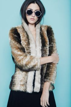 @Virtually Vegan VTG 70s Faux Fur Shearling Jacket