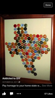 Bottle cap art