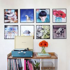 Record Frame Instagram Photo Wall