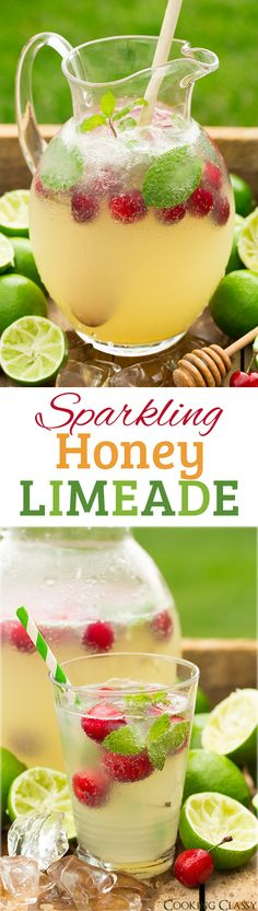 Sparkling Honey Limeade Non Alcoholic Drink Recipe via Cooking Classy - I love this flavor combo! Such a refreshing drink! The BEST Easy Non-Alcoholic Drinks Recipes - Creative Mocktails and Family Friendly, Alcohol-Free, Big Batch Party Beverages for a Party Drinks, Cocktail Drinks, Fun Drinks, Healthy Drinks, Cold Drinks, Healthy Recipes, Drinks Alcohol Recipes, Non Alcoholic Drinks, Drink Recipes