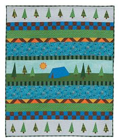 Campout Quilt Pattern Download by Kristin Gassaway available now at ConnectingThreads.com