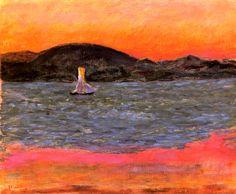Sailboat at Sunset / Pierre Bonnard - circa 1921
